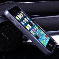 Черный силиконовый бампер для iPhone 5s / 5 матовый
