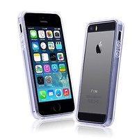 Полупрозрачный белый силиконовый бампер для iPhone 5s / 5 матовый