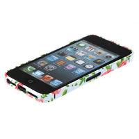 Металлический белый бампер Fashion Case для iPhone 5s / SE / 5 с узором розы
