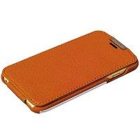 Чехол кожаный i-Carer для iPhone 6s / 6 коричневый - Metal Warrior Litchi Pattern Series