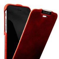 Чехол кожаный винтажный i-Carer для iPhone 6s / 6 красный - Metal Warrior Vintage Series