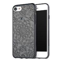 Черный прозрачный силиконовый 3D чехол для iPhone 7 бриллиант - 3D Diamond Black Transparent Case