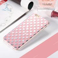 """Силиконовый 3D чехол для iPhone 6s / 6 (4.7"""") розовый с рисунком сердечки"""