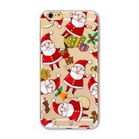 """Прозрачный силиконовый чехол для iPhone 6s / 6 (4.7"""") с рисунком Дед Мороз"""