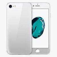 Защитное стекло для iPhone 7 -  на две стороны серебро