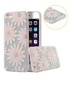 Силиконовый чехол накладка для iPhone 6 \ 6s Ромашки со стразами