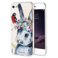 Силиконовый чехол CASEIER для iPhone 7 / 7s -  3D рисунок Кролик