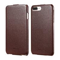 Коричневый чехол флип Fashion Case для iPhone 7 Plus