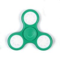 Зеленый Спиннер со светодиодами светящийся LED Round Spinner Green