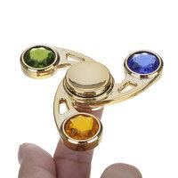 Spinner для рук Спиннер металический золотистый со стразами - улучшенные подшипники и быстрая скорость вращения