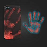 Черный силиконовый чехол накладка для iPhone 7 Plus с покрытием Soft Touch - реагирует на тепло ( Physical Thermal Sensor Discoloration Soft TPU )