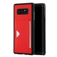 Красный противоударный чехол для Samsung Galaxy Note 8 с отделением для карты