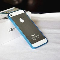 Силиконовый бампер Ultra Thin 0.2mm для iPhone 5 / 5s / SE голубой